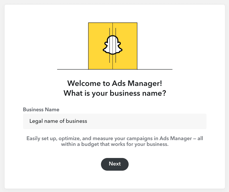 Snapchat Business Account