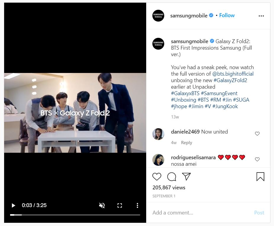 Galaxy x BTS Review