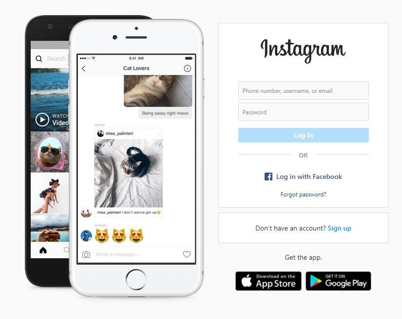 Instagram Desktop Login