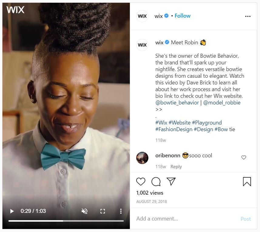 Wix Testimonial